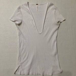 Free People Deep V Knit T-Shirt